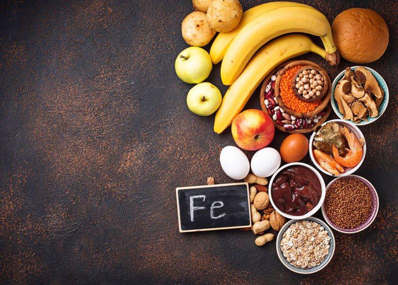 potraviny s obsahom železa