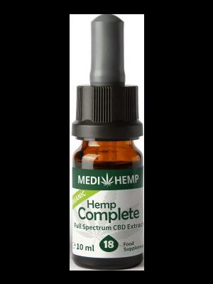 Organic Hemp Complete 18% CBD olej, 1800mg